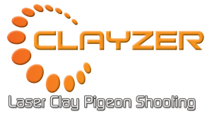 Clayzer laser clay pigeon shooting logo
