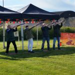 Clayzer laser clay pigeon shooting, Somerset