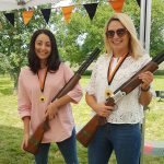 Hens doing some laser clay shooting